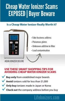Cheap Water Ionizer Scams