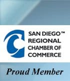 San Diego Chamber of Commerce banner.